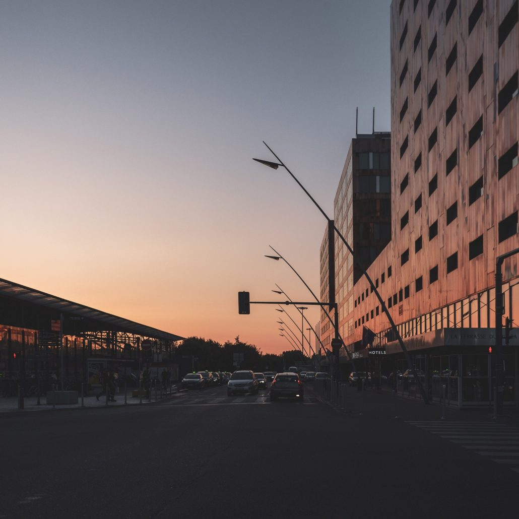 Sunset in Lille