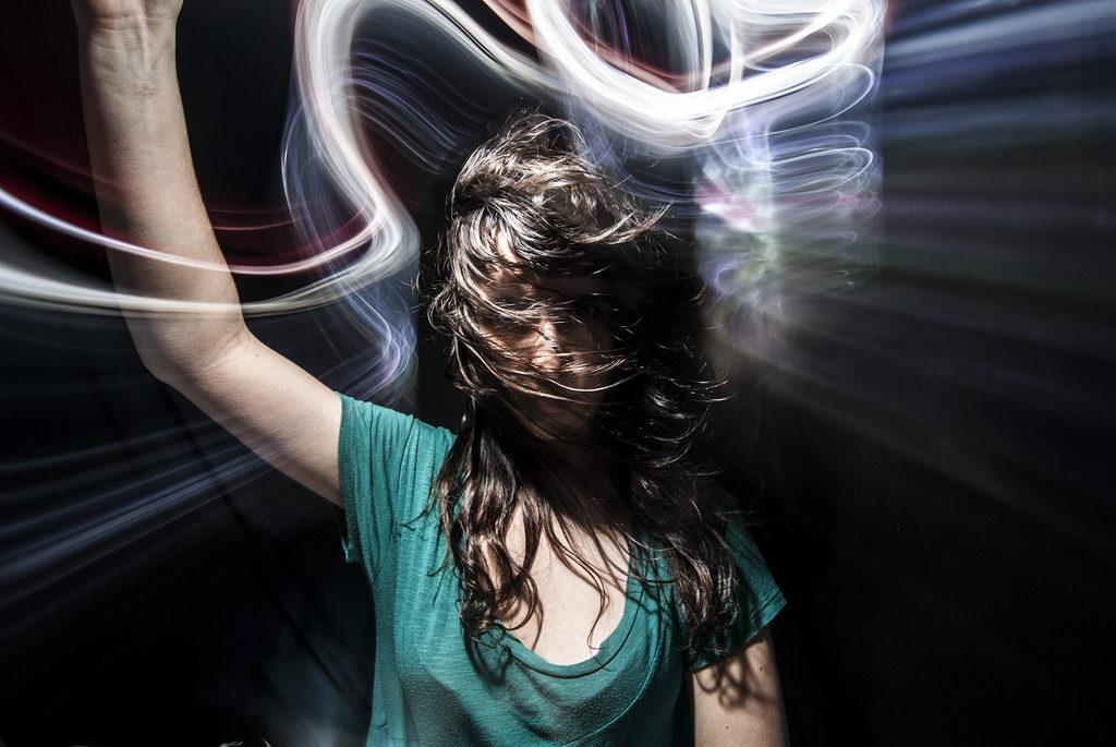 light painting hair
