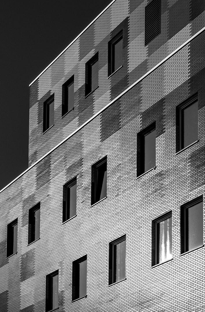 Metal facade aspect