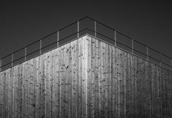 Angle facade bois