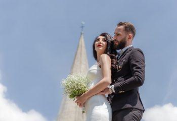 Séance couple avec les mariés