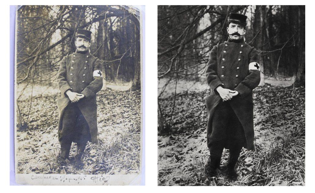 Restauration brancardier 1914