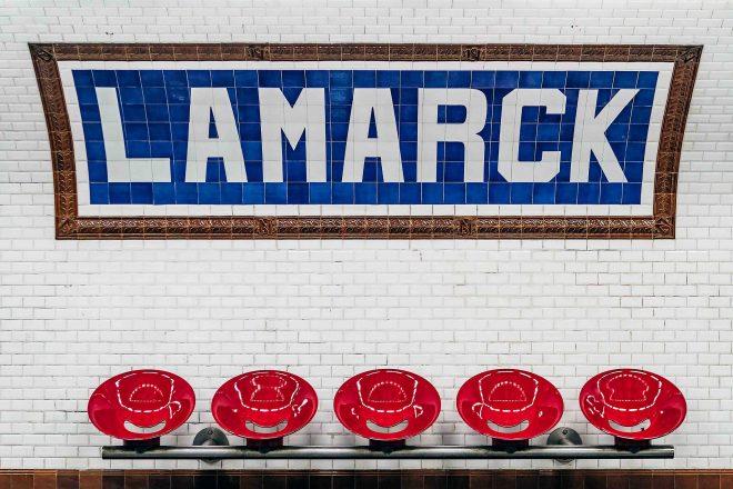 Paris - Métro Lamarck ligne 12
