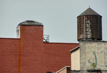 Citerne mur de briques New-York-USA