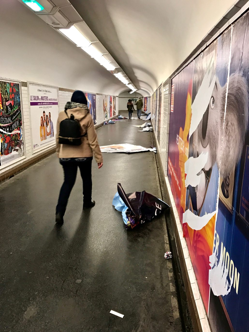 Couloir du métro Parisien