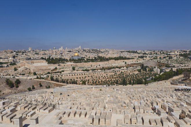 Vue du Mont des Oliviers -Jérusalem