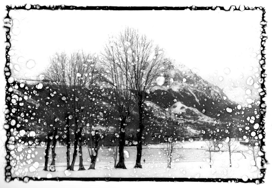 Paysage avec neige