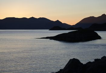 Sunset in Lofoten Island.