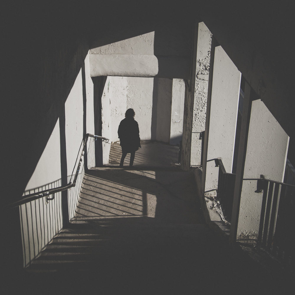 Lady On Stairway