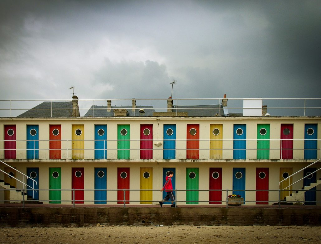 Anciennes cabines de Luc sur mer – © Olivier Mercier