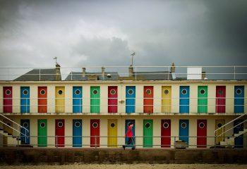 Anciennes cabines de Luc sur mer - © Olivier Mercier
