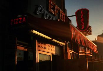 Coucher de soleil sur Pizza-Kebab - © Mig20