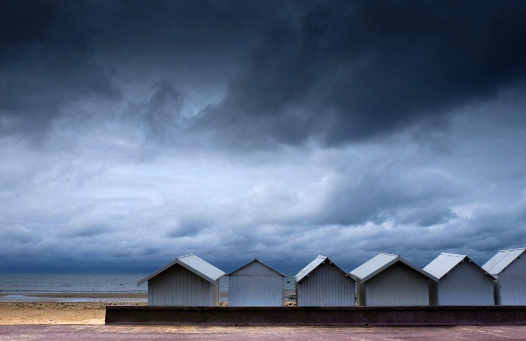 Les cabines de la plage en septembre – © Olivier14