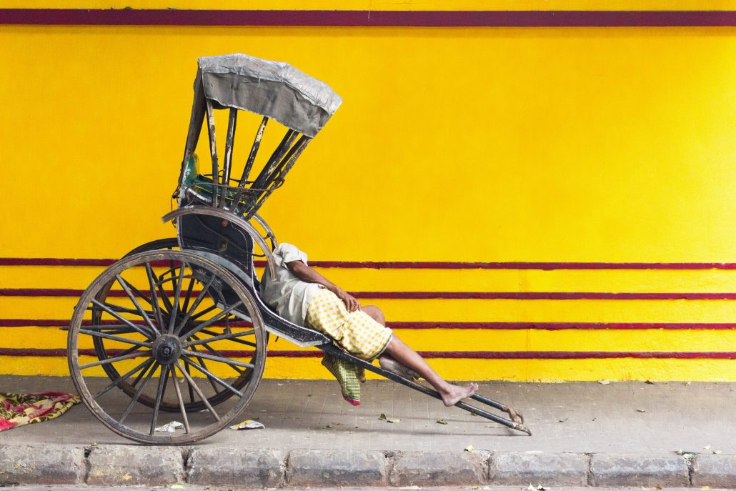 Rickshaw-wallah – © Catherine Le Scolan