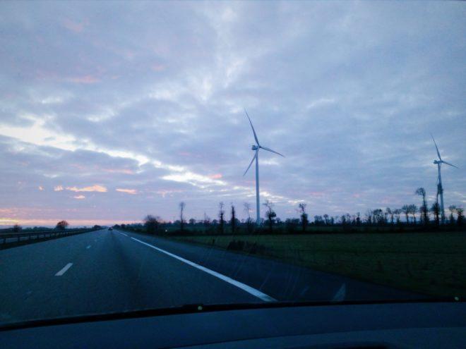 Mrs Blue & her wind machine