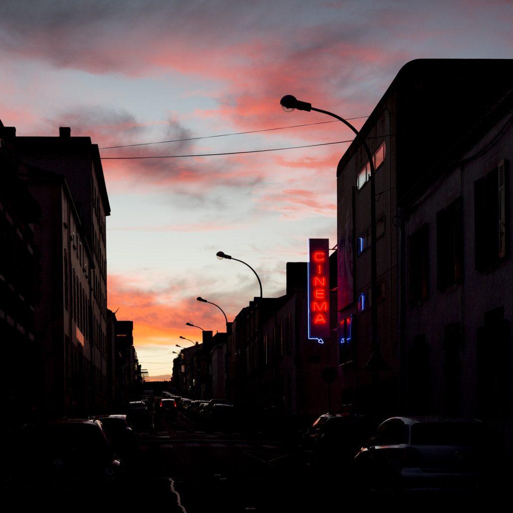 Fin de journée sur la ville