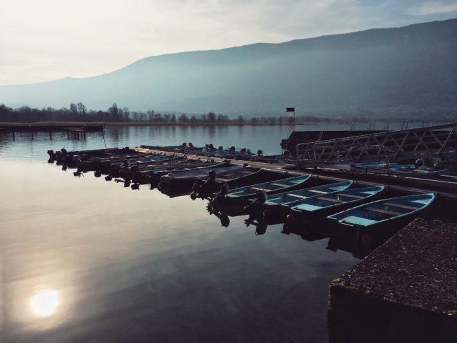 Lake fishermen's boats