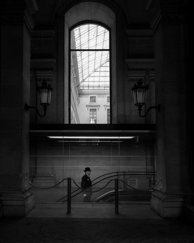 Man in Louvre