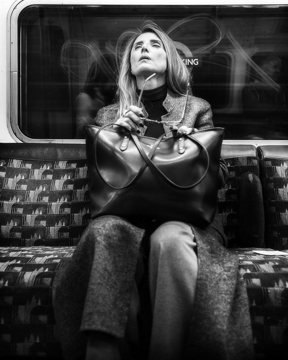 Woman in London Tube