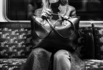 Woman in London Tube