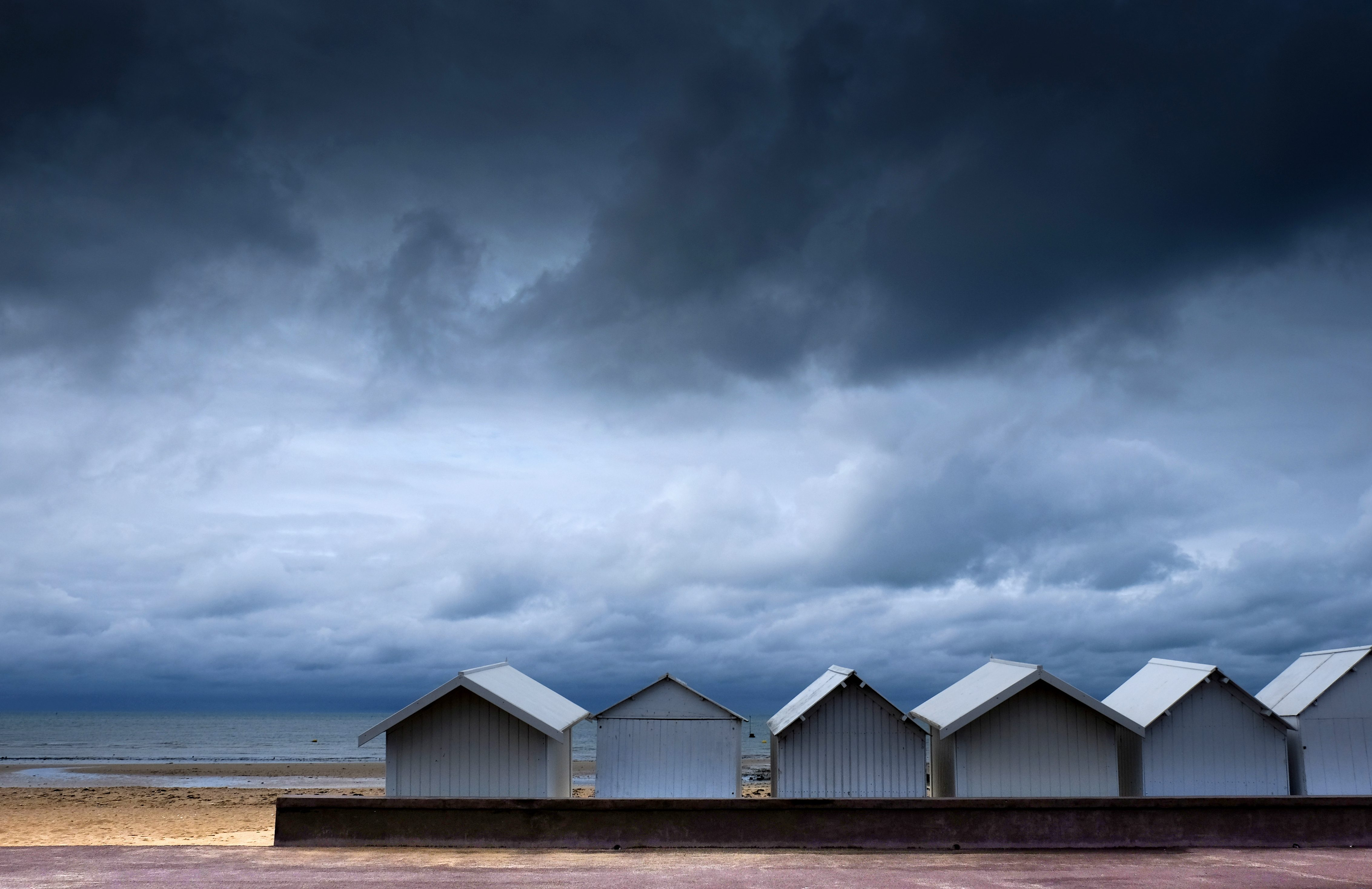 Les cabines de plage en septembre