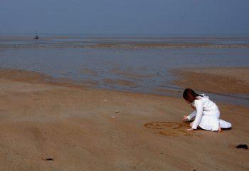 J' avais dessiné sur le sable