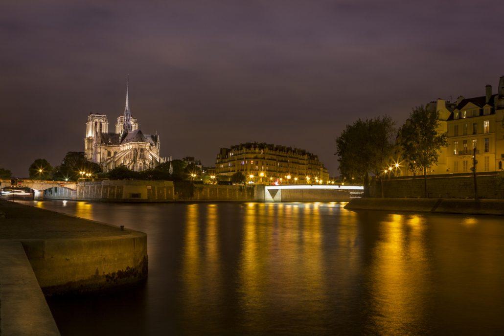 Pose longue sur Notre Dame
