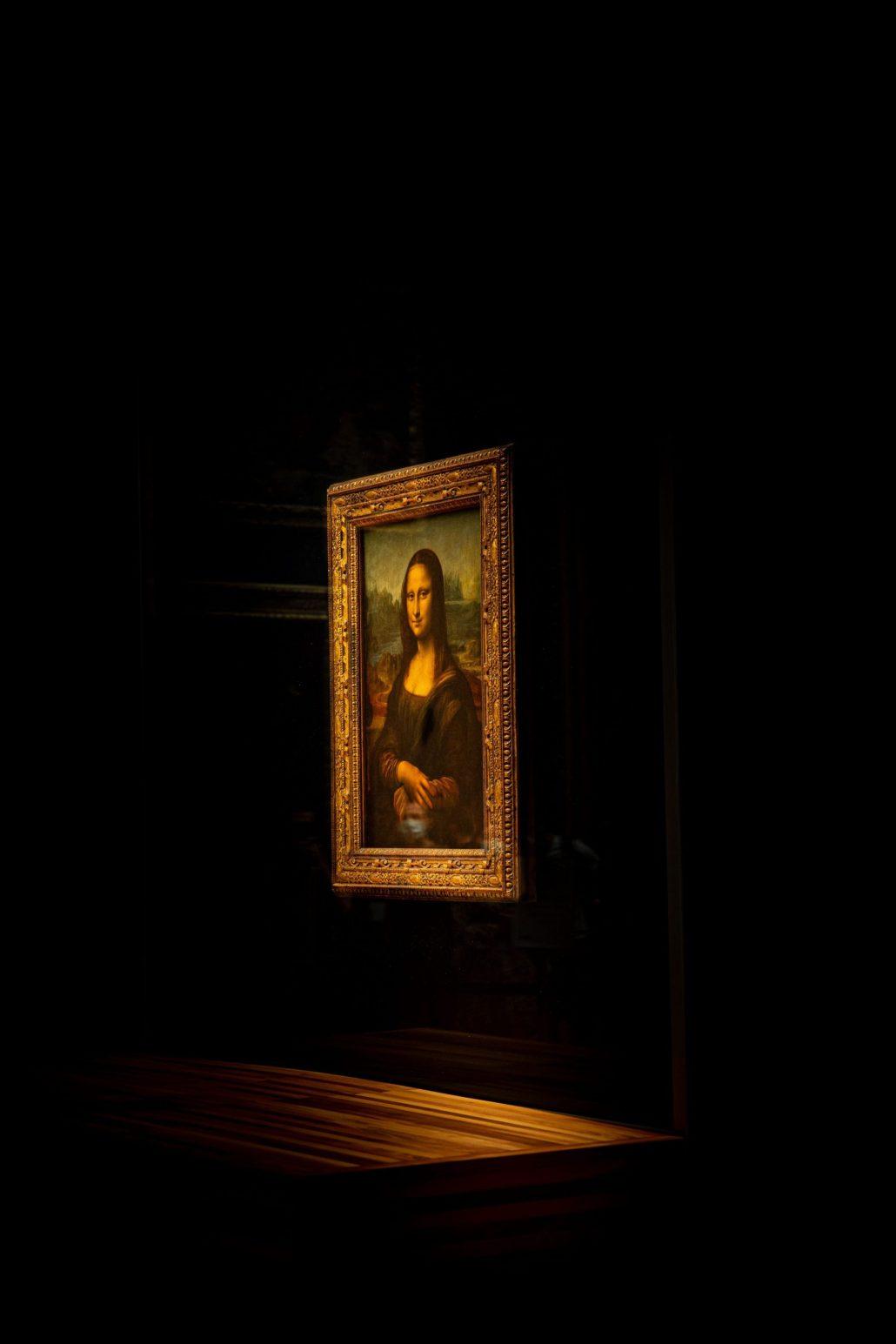 Mona Lisa a attrapé un masque
