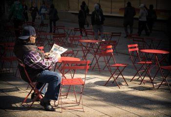 Le lecteur de Times Square