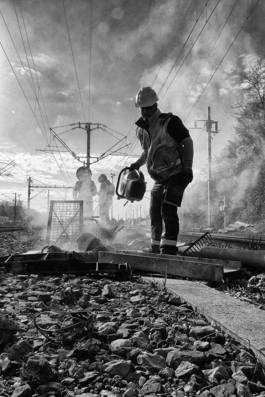 Worker railroad