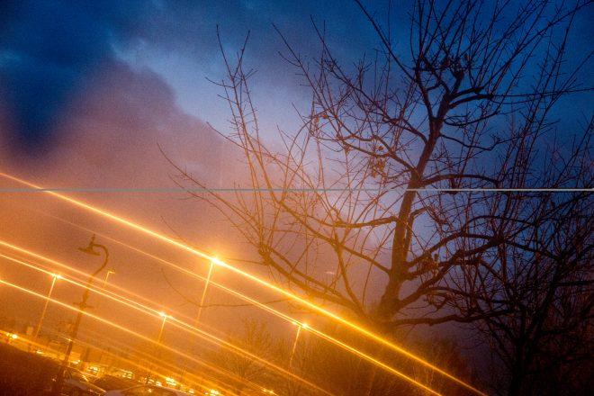 Lumières d'automne à l'heure bleue