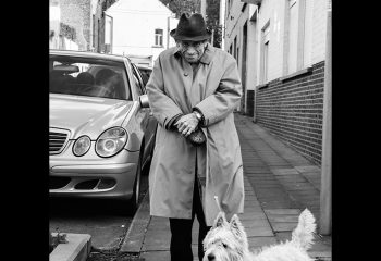 The old gentleman and his friend the dog