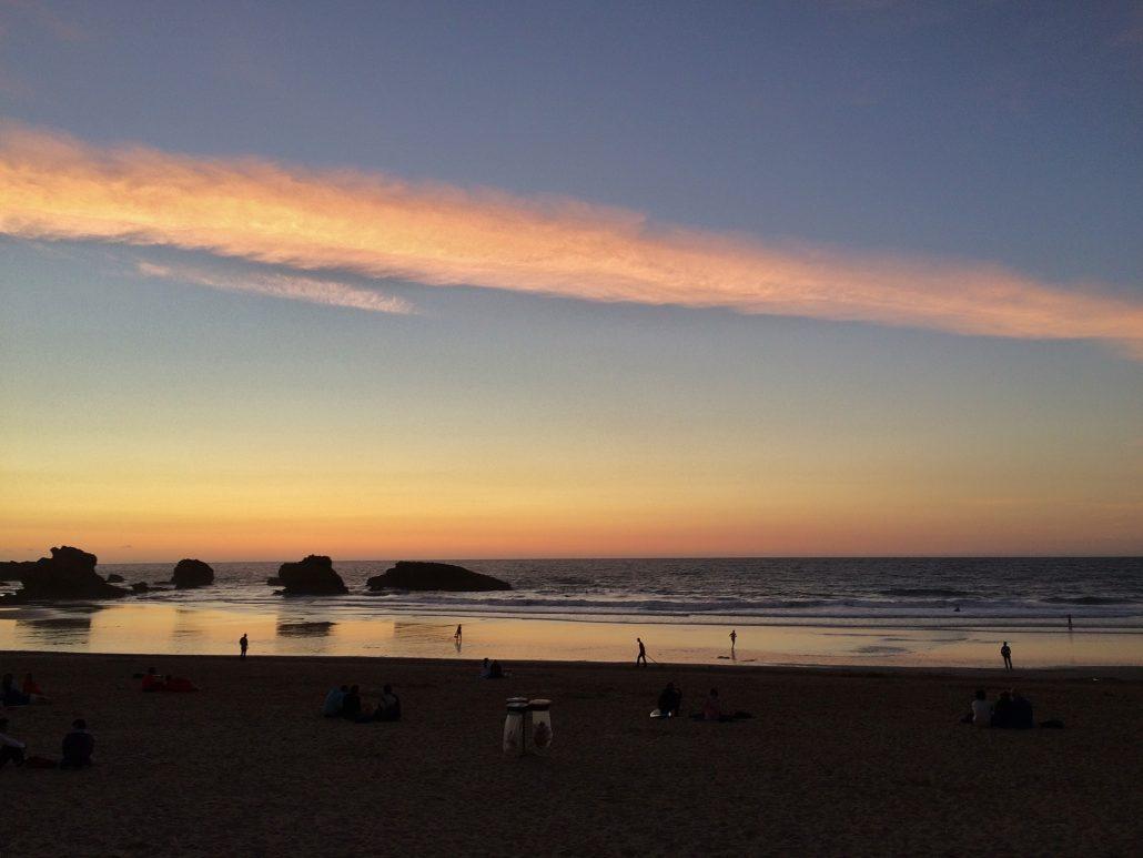 Coucher de soleil sur Biarritz