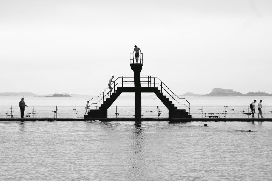 Baignade à Saint-Malo