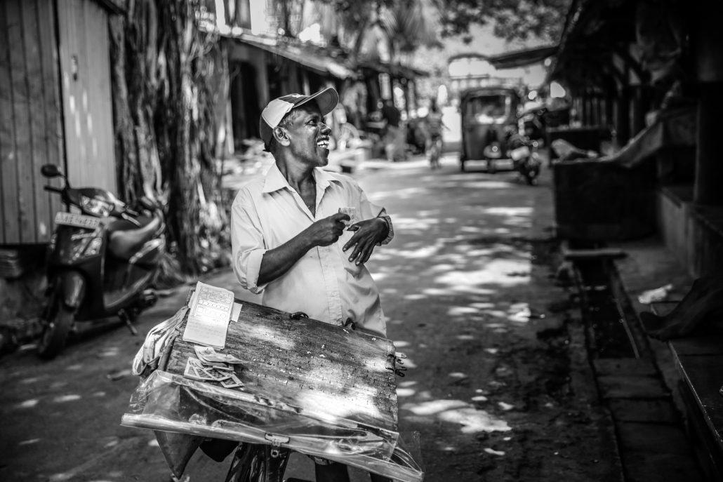 Lottery ticket salesman