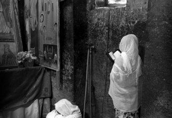 Dans une église de Lalibela