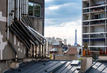 Vue de Paris depuis la Cité Montmartre aux Artistes