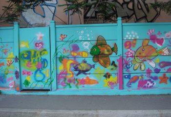 un mur tout en couleur......