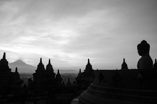 Borobudur, lumière matinale