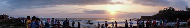 Coucher de soleil à Tanah loth, Bali
